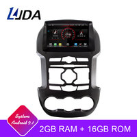 LJDA Android 9.1 Car DVD Player For Ford Ranger 2011 2015 GPS Navigation 2 Din Car Radio Multimedia WIFI Stereo IPS Headunit RDS