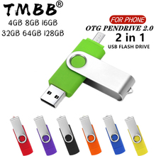 360° Rotate OTG USB Flash drive cle 64G USB 2 0 Smart Phone pen drive 4g 8g 16g 32g 128g micro usb memory storage devices U disk cheap BiNFUL Metal Multifunctional Bracelet NECKLACE Stick 2018 Year