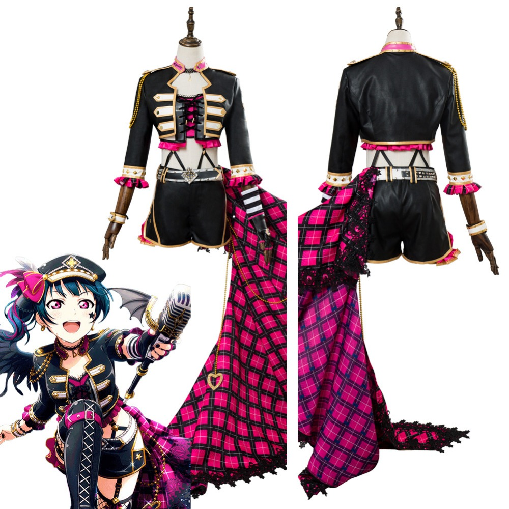 Love Live!Aqours Ruby Kurosawa Punk Rock Cosplay Costume Suit Dress Uniform