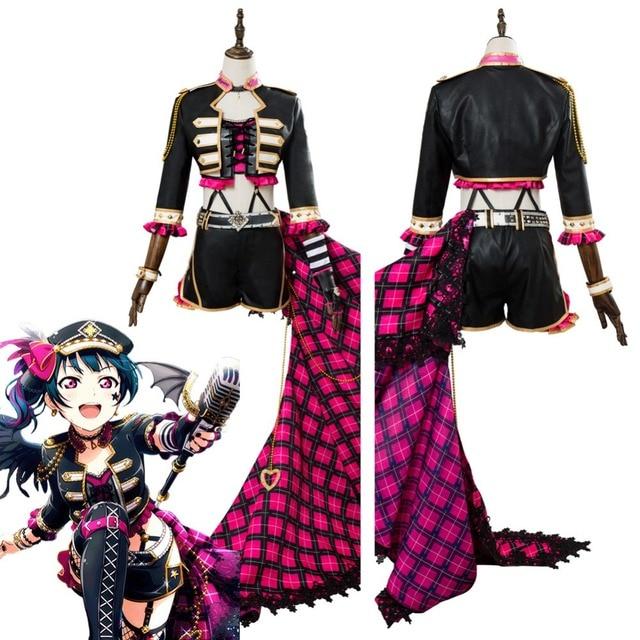 Love Live Aqours Tsushima Yoshiko Punk Rock Cosplay Costume Suit