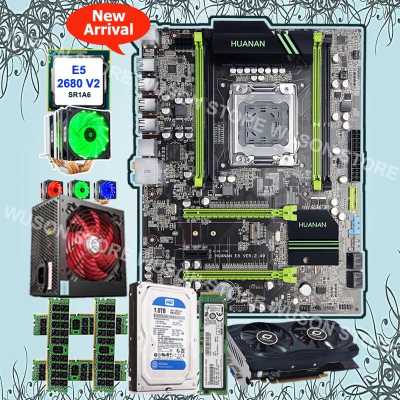 Brand HUANAN ZHI X79 motherboard with M.2 128G SSD 1TB SATA HDD CPU Xeon E5 2680 V2 GPU GTX750Ti 2G 4*8G 1600 RECC 500Watt PSU good pc hardware huanan zhi x79 motherboard with m 2 128g ssd discount motherboard with cpu xeon e5 2680 v2 ram 64g 4 16g recc