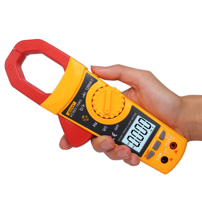 AC/DC Digital Multimeter Amper Clamp Meter Current Clamp Pincers Voltage Capacitor Resistance Tester clamp multimeter dt3266l lcd display digital multimeter handle ac voltage current resistance tester dt3266l multimeter tester