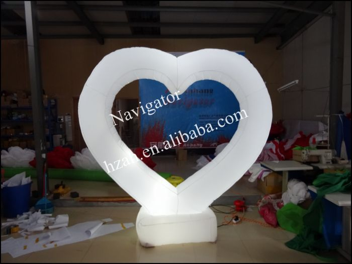 Lighting Inflatable Heart For Wedding Decoration
