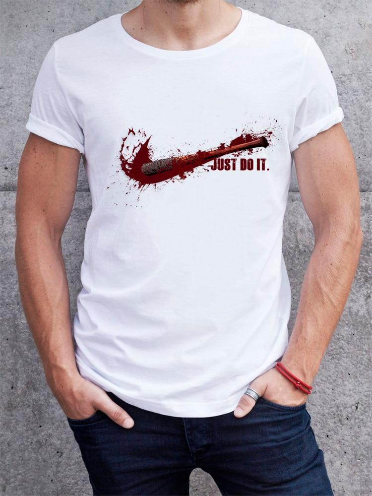 Fashion 2017 Summer T-shirt The Walking Dead No Hope Men T Shirt Rise Up Top Tees Male Negan The Walk Dead