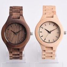 De madera de Pulsera de Cuarzo Reloj de Pulsera de la Venda de Reloj de Pulsera Regalos De Madera Ajustable Zebra Wood Relojes