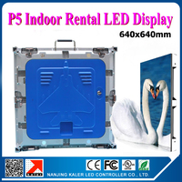 TEEHO Indoor rental led video wall P5 small 5mm picth high performance led display cabinet die cast aluminum 0.64x0.64m
