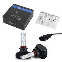 2 Pcs 9006 DC 9 32V Car 6 LED Headlight Automobile Fog Lamp 50W 8000LM CSP