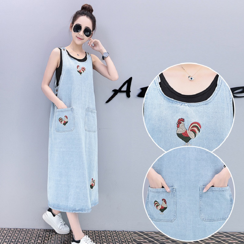 New womens dresses denim fabric suspenders dresses maternity clothing pregnancy dresses maternity clothing 1714
