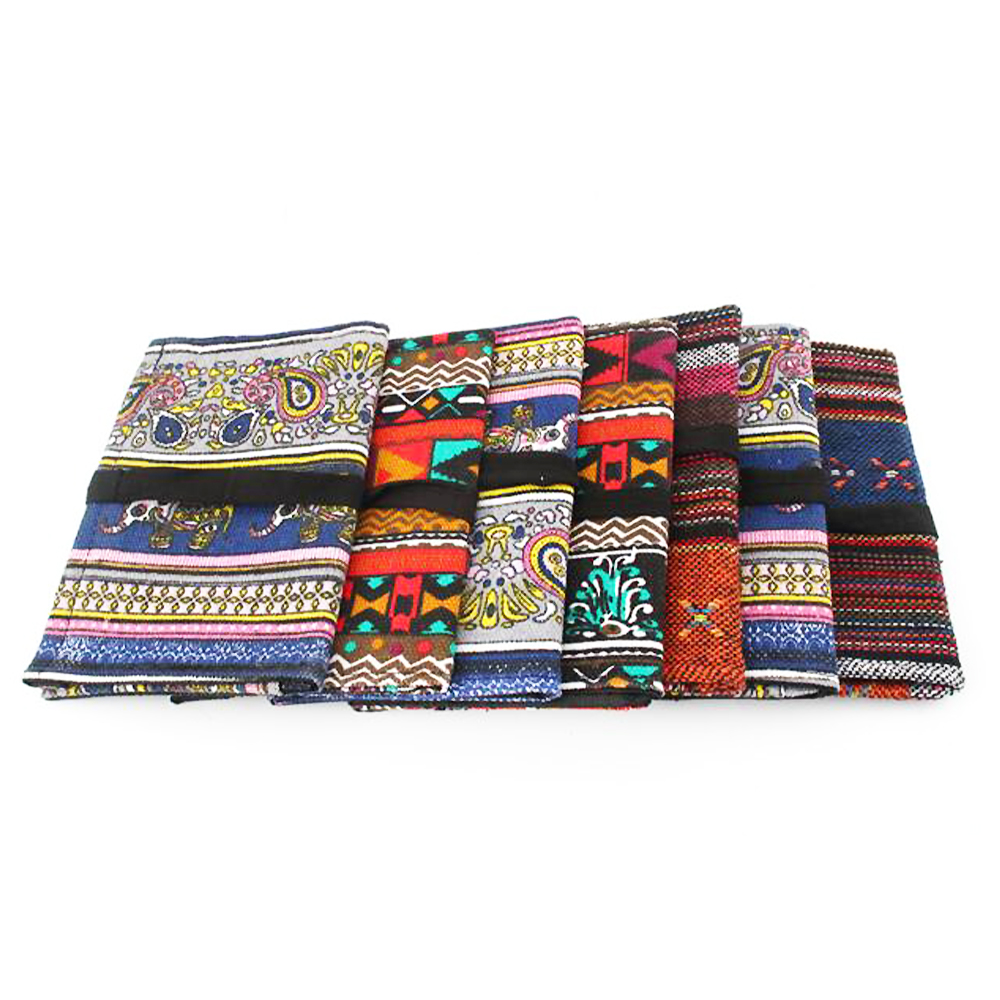 Random Color Chinese Style TObacco Pouch Storage For Smoking Pipe Cotton Handmade Cigarette Holder Bag Tobacco Pouch 2