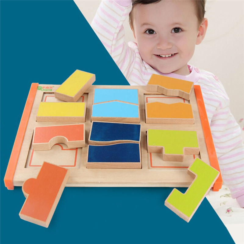 Persevering Baby Early Learning Wood Puzzle Toys Mathematical Development Intelligence Fraction Board Kids Wood Toy Educational Toy Gifts Moderate Cost Toys & Hobbies