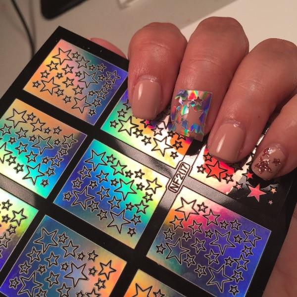 1 Sheet Nail Art Vinyls Star Pattern Design Tips Decorations ...