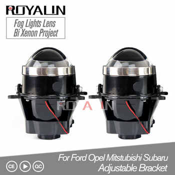 ROYALIN Adjustable For Ford Fog Lights Lens Bi Xenon Projector Lamp For Opel Mitsubishi Subaru Renault D2S D2H Bulbs Retrofit - DISCOUNT ITEM  33% OFF All Category