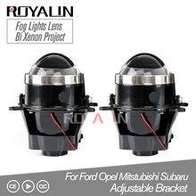 ROYALIN Регулируемый для Ford туман оптические линзы Bi Ксеноновая Лампа проектора для Opel Mitsubishi Subaru Renault D2S D2H лампы модифицированной