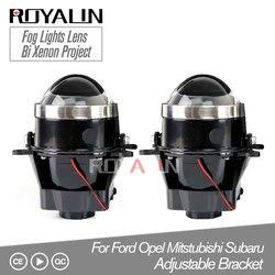 ROYALIN Regolabile Per Ford Fendinebbia Lente del Proiettore Allo Xeno Bi Lampada Per Opel Mitsubishi Subaru Renault D2S D2H Lampadine Retrofit