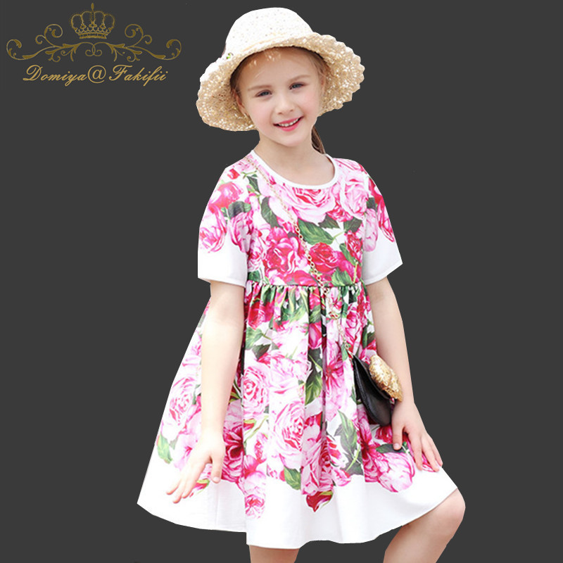 Girls Summer Dress Princess Party Floral Dresses For Weddings 2018 Brand Kids Clothing Infant Birthday Costume Children Clothes girls dress summer 2017 denim dresses for girls infant strap children clothing princess sundress fashion design kids clothes