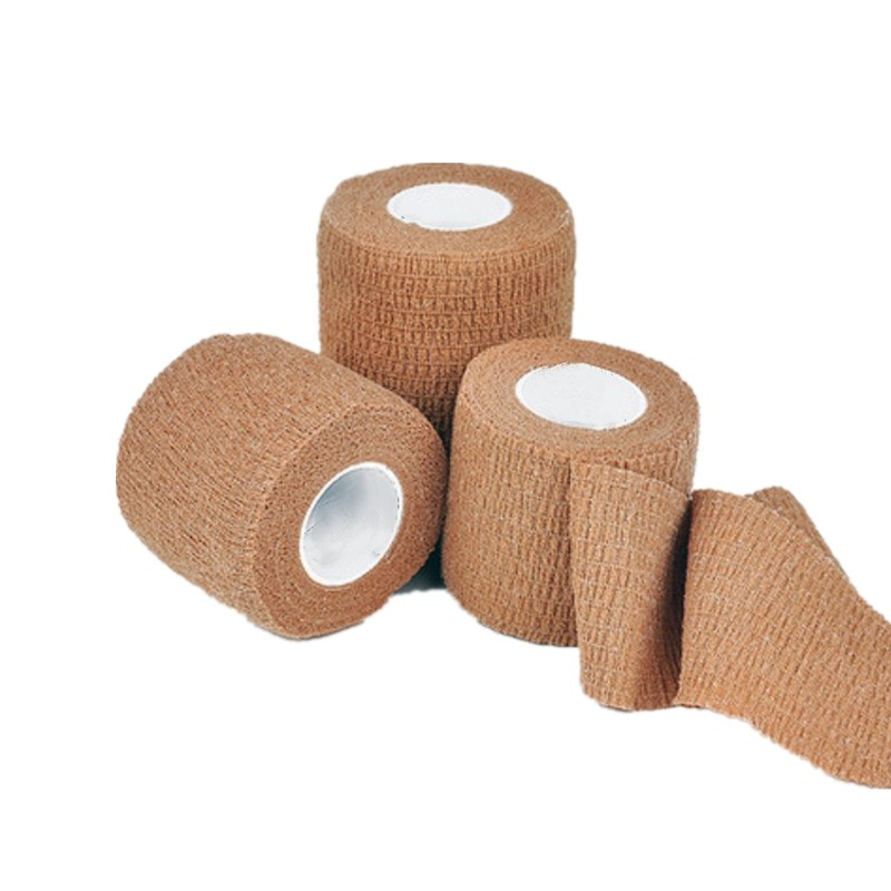 4 Rolls 2.5x450cm 5x450cm Self Adhesive Elastic Bandage Non-woven Fabric Tape Protective Knee Elbow Arthrosis Support Injury Pad