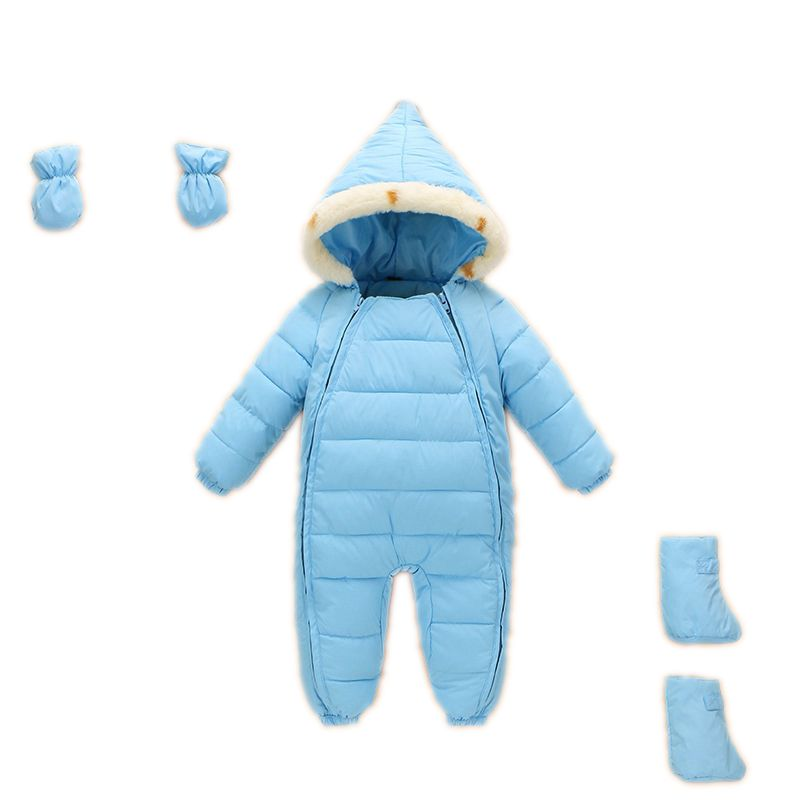Kids Down Cotton Jumpsuit Newborn Rompers Winter Thick Boys Snow Overalls Girls Baby Snow Wear Snowsuit Infant Snow Jacket infant snowsuit new toddler boys girls winter suits thermal down jacket thickening jumpsuit fur collar baby snow wear