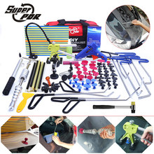 PDR hooks tools Paintless Dent removal tool kit Push Rod Car Crowbar Reflector Board pulling bridge glue puller hand tools set