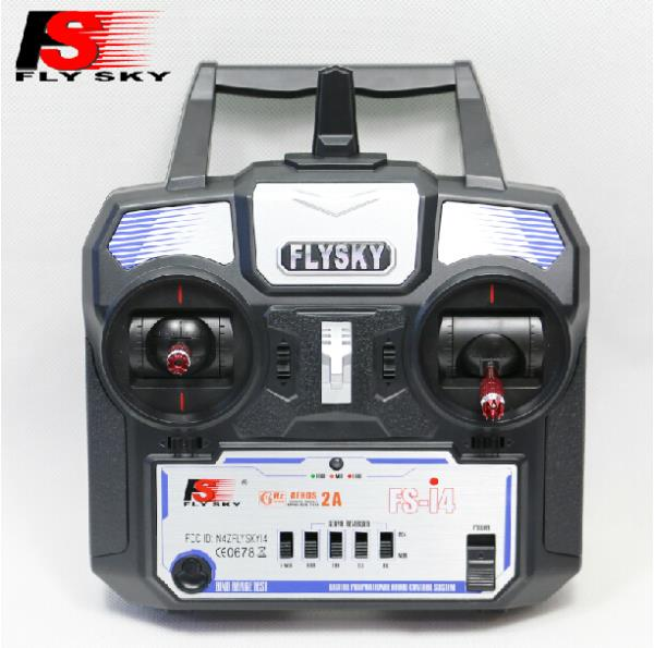New FlySky 2.4G 4CH Channel FS-i4 Transmitter + Receiver Radio System Remote Controller Mode1/2 W/ Rx RC Helicopter Multirotor