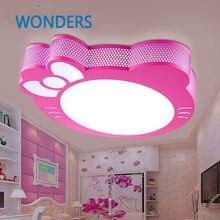 Милый светодиодный потолочный светильник hello kitty, лампа для простого креативного мультфильма для мальчиков и девочек, потолочные светильники для спальни, детская комната для чтения