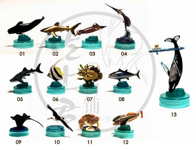 Mini figurine pvc vie Marine mouette corail poisson maquereau requin Stingray modèle 13 pièces/ensemble
