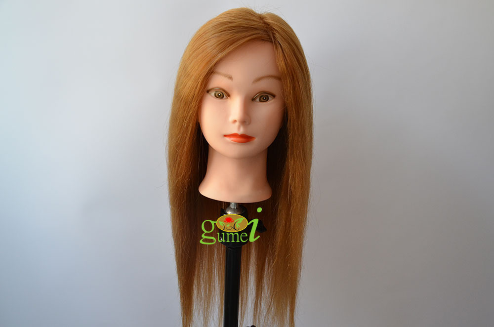 Free Shipping Maniqui Dummy Manequin 80% Blonde Human Hair Training Mannequin Head With Human Hair