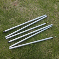 Steel Folding Tent Pole Tent Rod Awning Rod Stand Pole Tent Accessories Tent Extending Door Frame