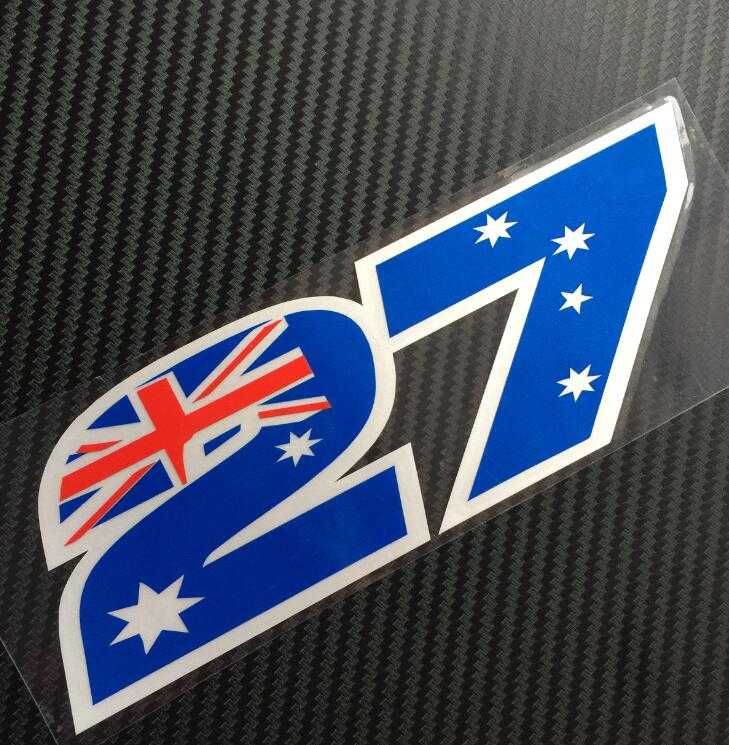 Stoner Race Number 27 Helmet Decals Pair Of Casey Stickers In From Automobiles Motorcycles On Aliexpress