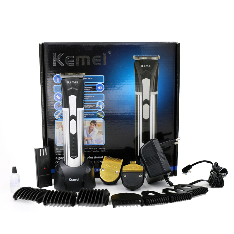 kemei professional clipper hair trimmer rechargeable electric razor cutter hair cutting machine for barber men beard shaver цена и фото