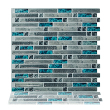 Cocotik 10.5x10 Anti-mold decorative mosaic peel and stick 3d wall backsplash tiles for kitchen - Pack of 6