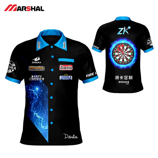 e5f76eae7 100% polyester New Shoot Darts Men's T Shirt Black Customizing Make Your  Design Color Shooting Shirt for adult Polo TShirt
