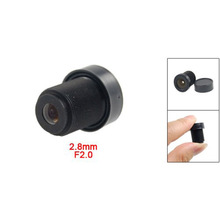 1/3 CCTV 2.8mm Lens Black for CCD Security Box Camera  HJ55 1 3 ccd surveillance security camera grey dc 12v