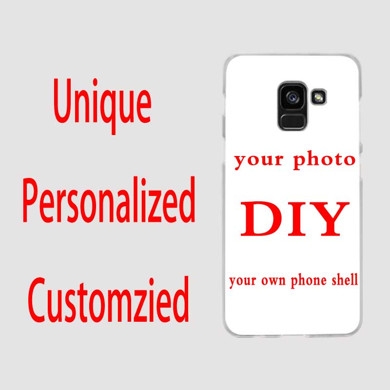 SHELI Customized DIY Phone Printed hard clear Cover Case for Samsung Galaxy A9 A6 A8 A7 A5 A3 2016 2017 2018 A10 A30 A40 A50 A70 image