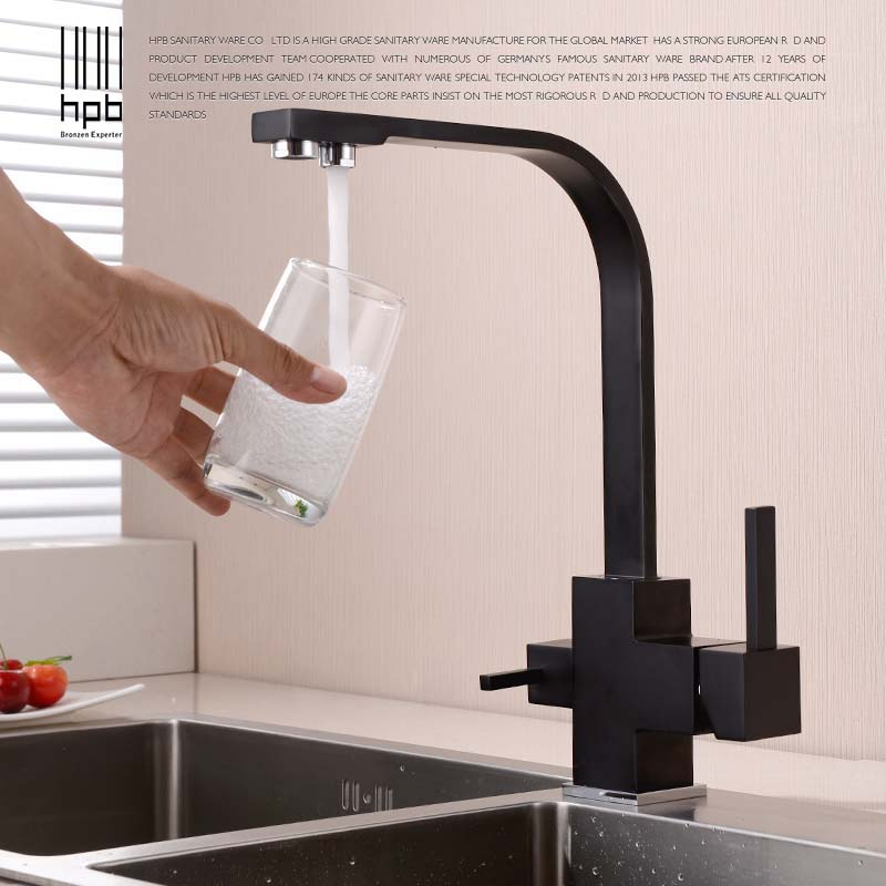 HPB Kitchen Faucet Water Tap Kitchen Mixer Facuet Handle Drinking Water Tap Single Handle Single Hole Two Functions Taps HP4301