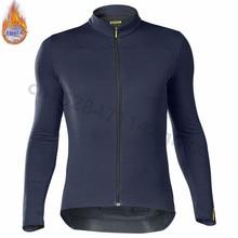 все цены на Mavic Pro team Winter Thermal Fleece Cycling Jersey Long Sleeve MTB Bicycle Clothing Maillot Ropa Ciclismo Invierno Bike Clothes онлайн