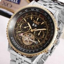 Jaragar tourbillon relogio masculino relojes hombre de acero automático reloj para hombre de primeras marcas de lujo mecánico caja de regalo