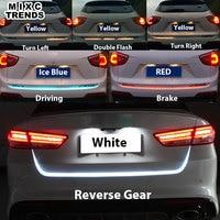 150cm Turn Signal Amber Flow Led Strip Trunk Light White Red Blue Luggage Led Warning Tail