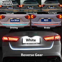 150cm Turn Signal Amber Flow Led Strip Trunk Light White Red Blue Luggage Led Warning Tail