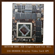 Original Genuine HD7970M DDR5 2GB Graphic Card For DELL 216-0836036 Display Video Card GPU Replacement Tested Working