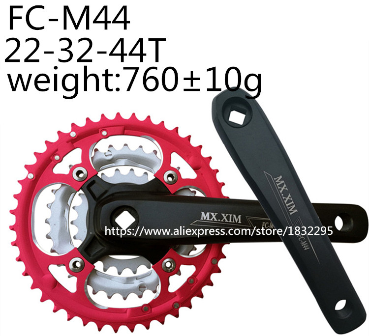 Bike Cranksets 7/8/9-speed Chainwheel Road Folding BikeBicycle Crankset  22/32/44T Teeth Bicycle Crank Sprocket  24-34-42T лобзик dwt sts06 80 d