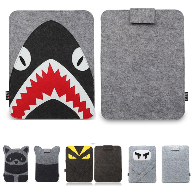 Wool Felt Laptop Sleeve for MacBook Air Pro 11 13 15 15.4 Notebook Case for Mac Acer Dell HP Asus 13.3 14 Cartoon Character