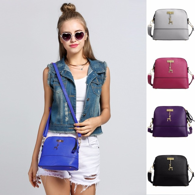 2017 High quality Brand Ladies Small Women Shoulder Messenger Bags Leather Shell Women Shoulder Bags Bolsa Feminina