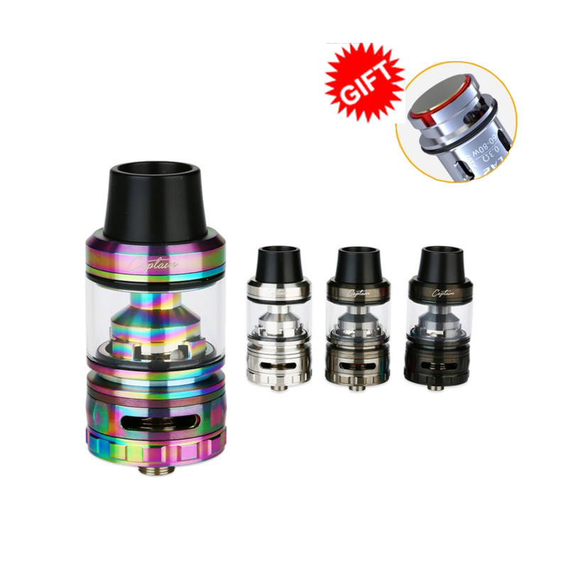 Original IJOY Captain S Subohm Tank Electronic Cigarette 4ml Vaping Atomizer Top Filling 25mm Captain S Atomizer VS TFV8 Baby