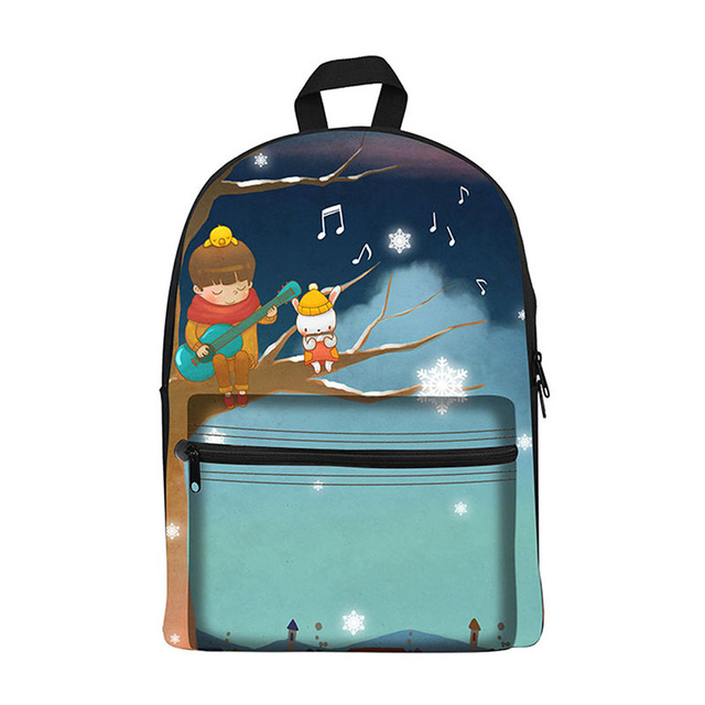 New 2017 Kawaii canvas Backpack for Girls Fashion Children School ...
