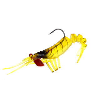 Image 3 - 1 pz esche da pesca gamberetti morbidi esche gamberetti artificiali 8cm/10.5g colori esca morbida esca bionica con gancio di piombo