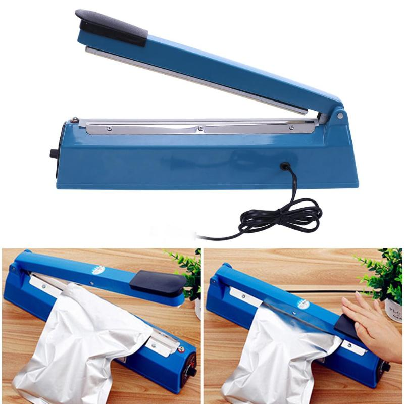 все цены на Manual Impulse Heat Sealer Poly Bag Machine Plastic sealing machine Pressing plastic sealing machine vacuum food sealers home онлайн