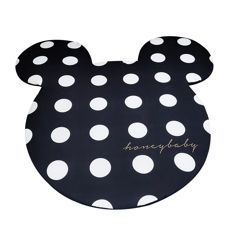 Black  White Mickey Minnie Mouse Rug Children Baby Crawling Game Mat Carpet Indoor Soft Children Mat Yoga Mat Bedroom Carpet