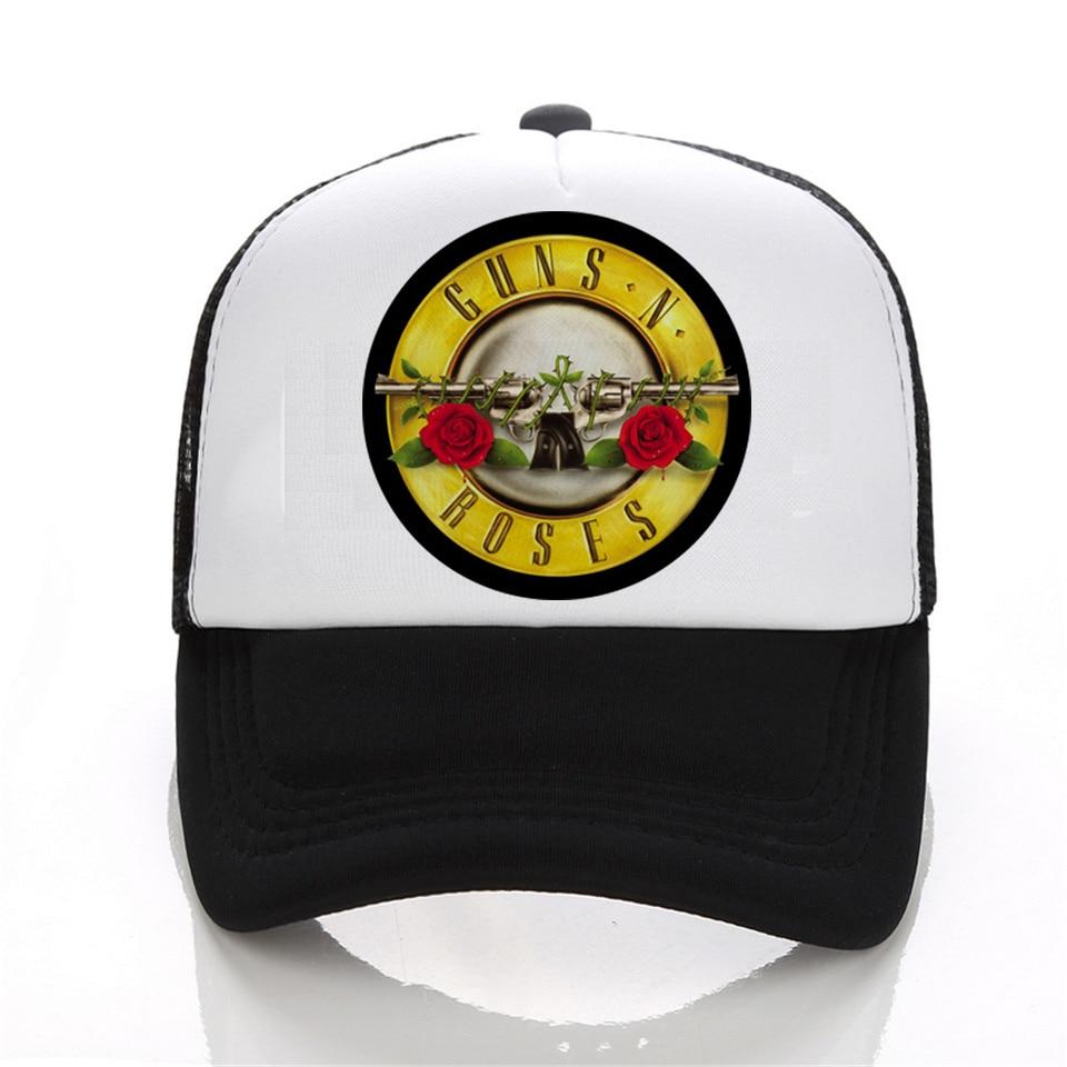 Fashion Cap Print Shirts Guns N Roses Led Zeppelin The Beatles baseball Cap Men 3D Hip Hop black White Hat Snapback Women Cap