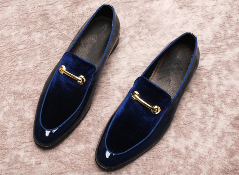 Black Dark Blue Mens Suede Loafers Flats Slip On Summer Buckles Mens Prom Fashion Elegant Shoes Mujers Wedding Derby Shoes