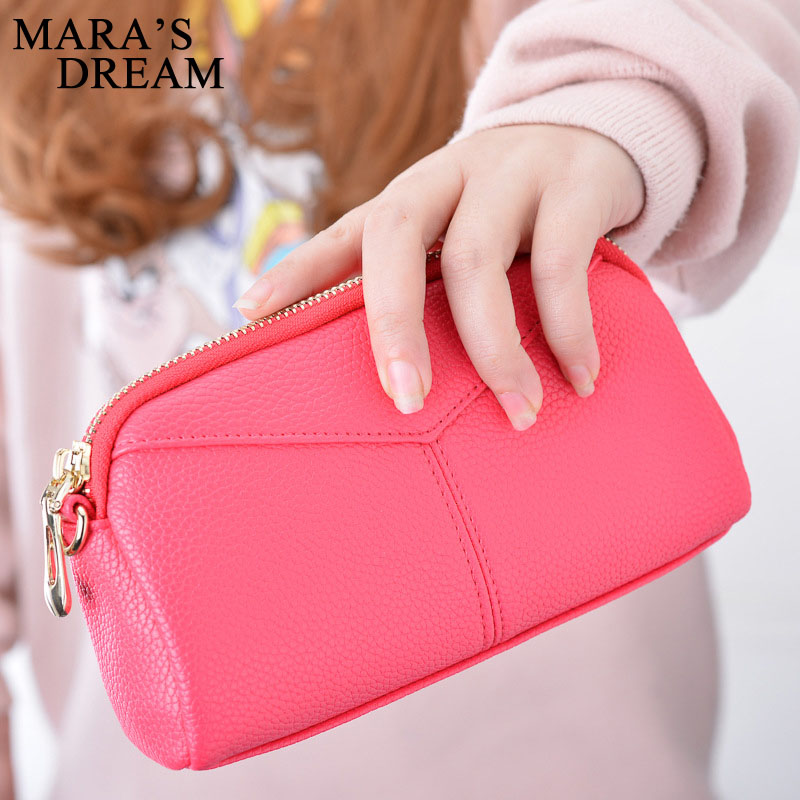 Maras Dream 2018 Card Holder Wallet Day Clutches Casual Quality PU Leather Zipper Women Portfolio Money Cash Bags Ladies Purse